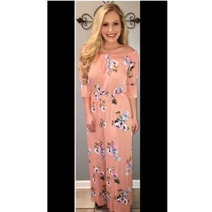 NWOT Sz Small Floral Off The Shoulder Jumpsuit